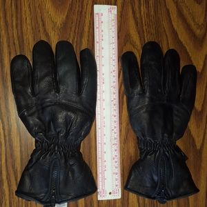 Black leather gloves by Thinsulate.